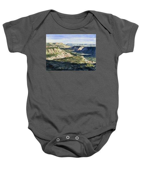 Evening Flight Over Palo Duro Canyon Baby Onesie