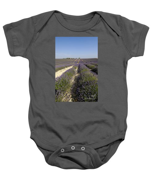 Field Of Lavender. Valensole. Provence Baby Onesie