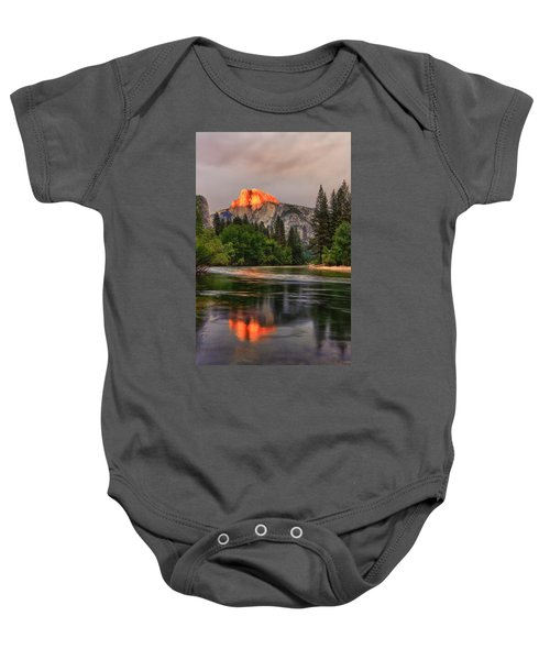 Golden Light On Halfdome Baby Onesie