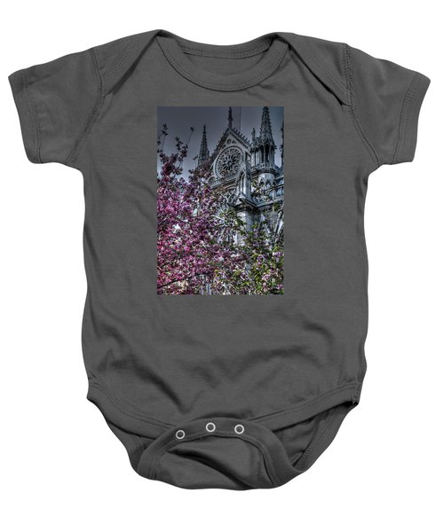 Baby Onesie featuring the photograph Gothic Paris by Jennifer Ancker