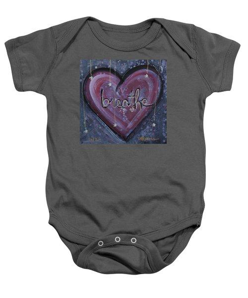 Heart Says Breathe Baby Onesie