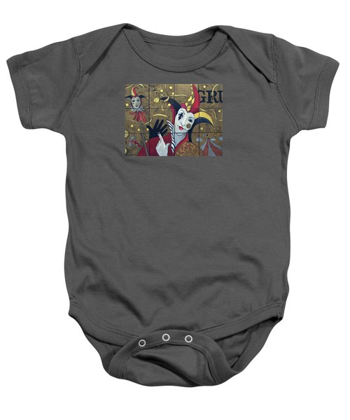 Jester In Red Baby Onesie