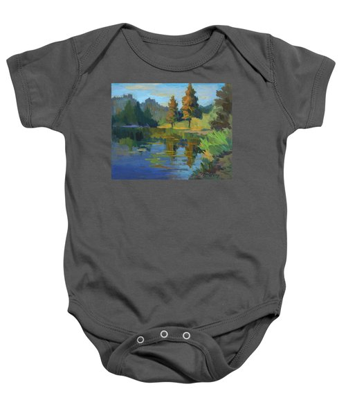 Late Afternoon Light At Harry's Pond Baby Onesie