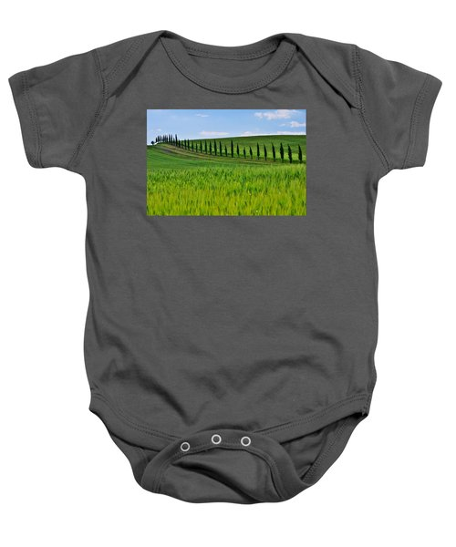 Lined Up Baby Onesie