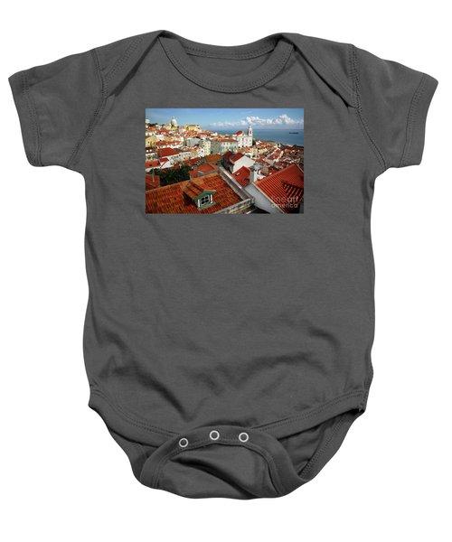 Lisbon Rooftops Baby Onesie