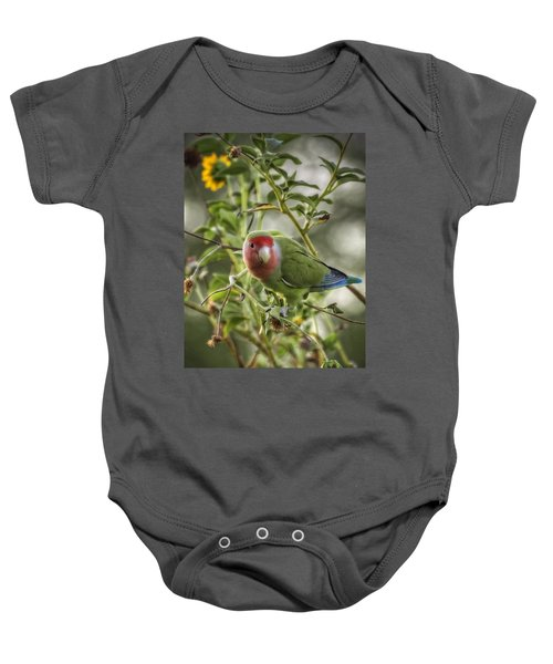 Lovely Little Lovebird Baby Onesie