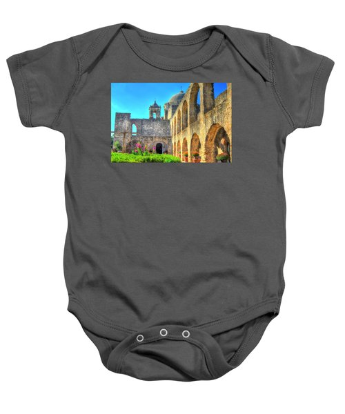 Mission Courtyard Baby Onesie