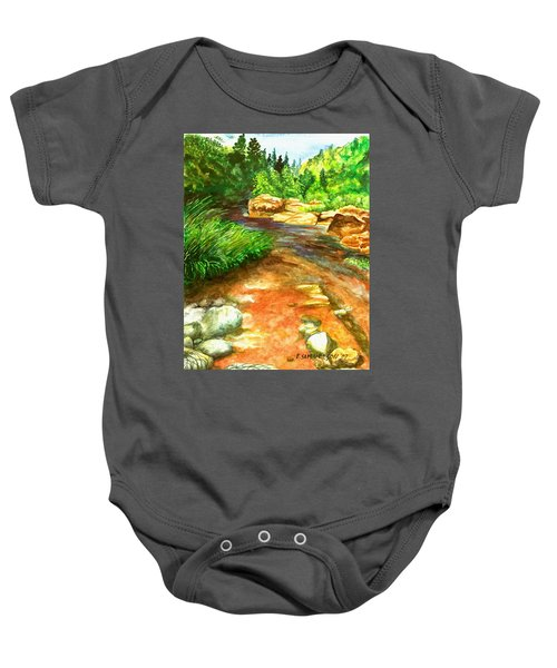Oak Creek Red Baby Onesie
