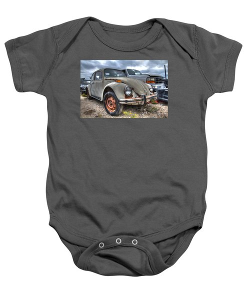 Old Vw Beetle Baby Onesie