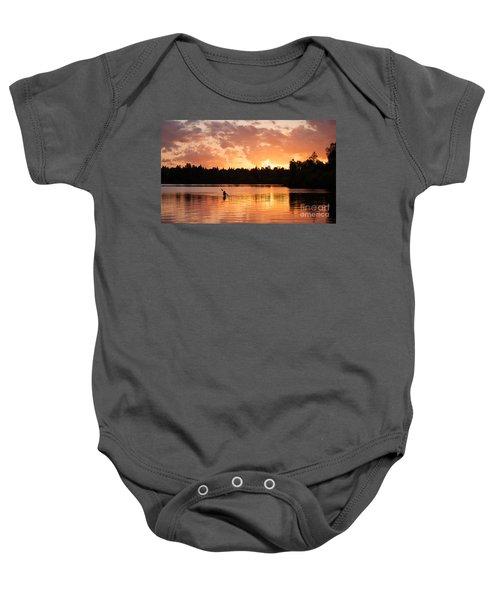 On The Lake Baby Onesie