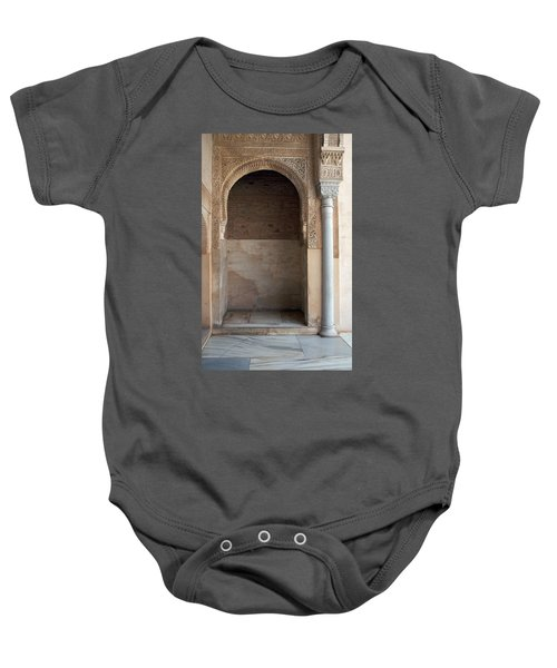 Ornate Arch And Pillar Baby Onesie