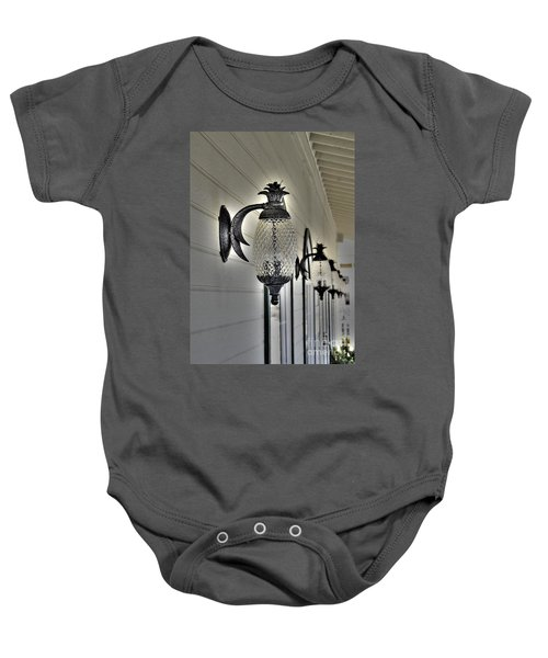 Pineapple Lights Baby Onesie