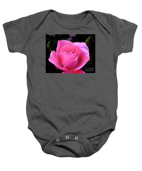 Pink Rose Day Baby Onesie