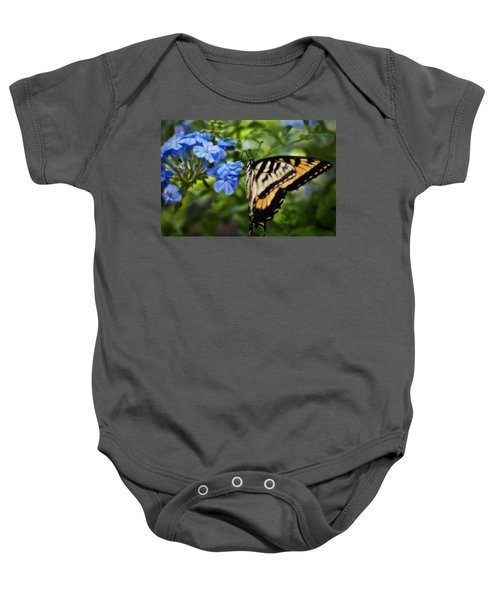 Plumbago And Swallowtail Baby Onesie