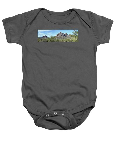 Ragged Top Mountain Panorama Baby Onesie