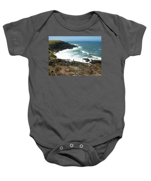 Rocky Ocean Coast Baby Onesie