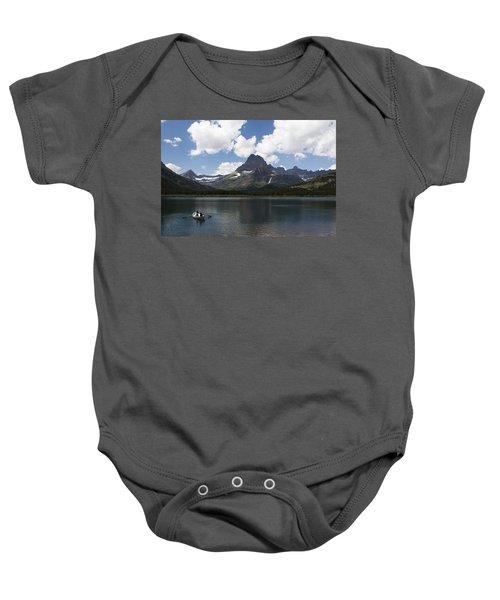 Rowboat At Many Glacier Baby Onesie