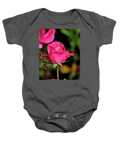 Simple Red Rose Baby Onesie