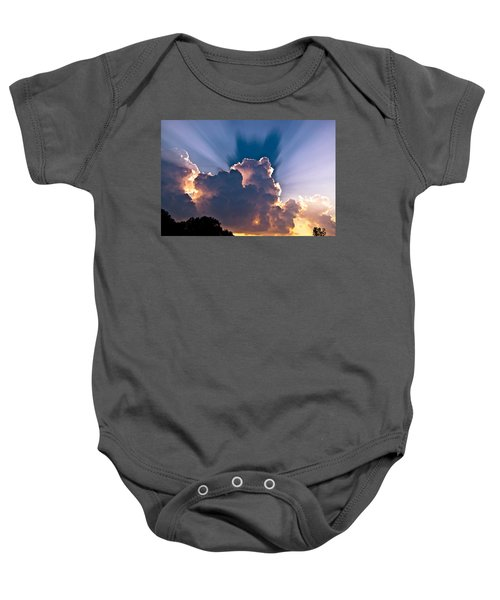 Sun Rays And Clouds Baby Onesie