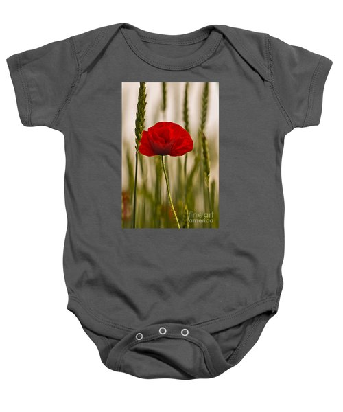 Baby Onesie featuring the photograph Sunset Glow. by Clare Bambers