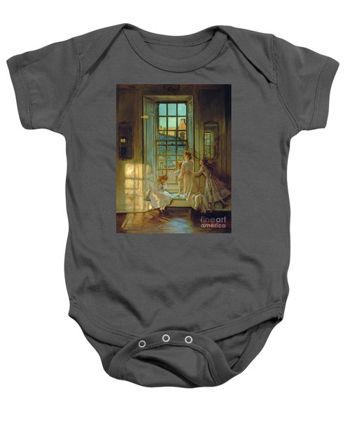 The Flight Of The Swallows Baby Onesie