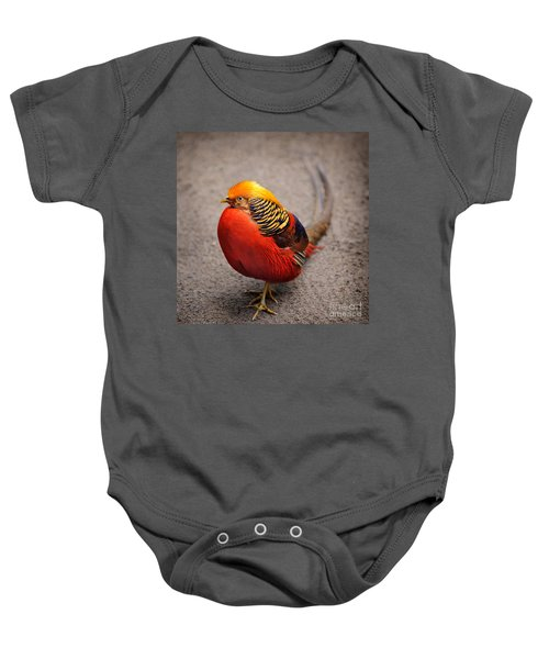 The Golden Pheasant Baby Onesie