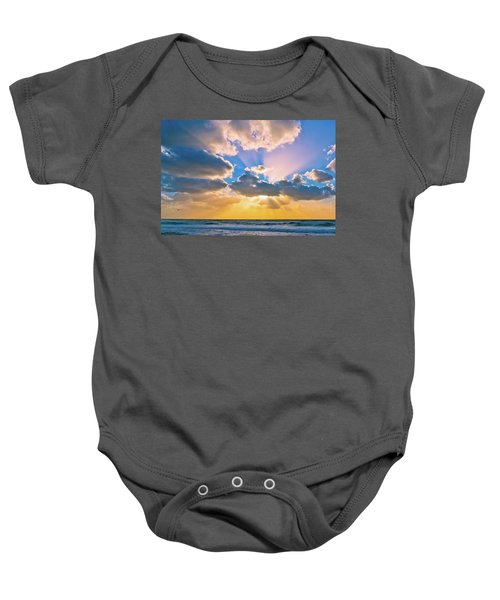 The Sea In The Sunset Baby Onesie
