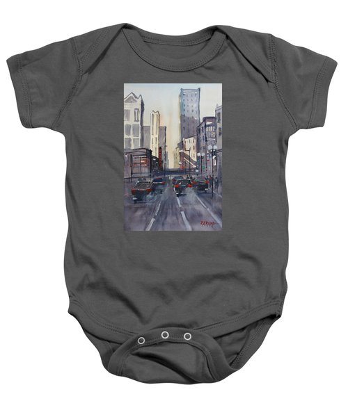 Theatre District - Chicago Baby Onesie by Ryan Radke