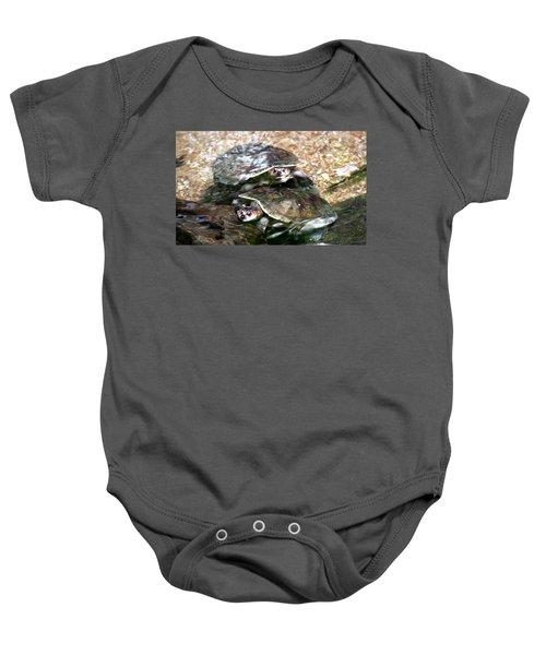 Turtle Two Turtle Love Baby Onesie
