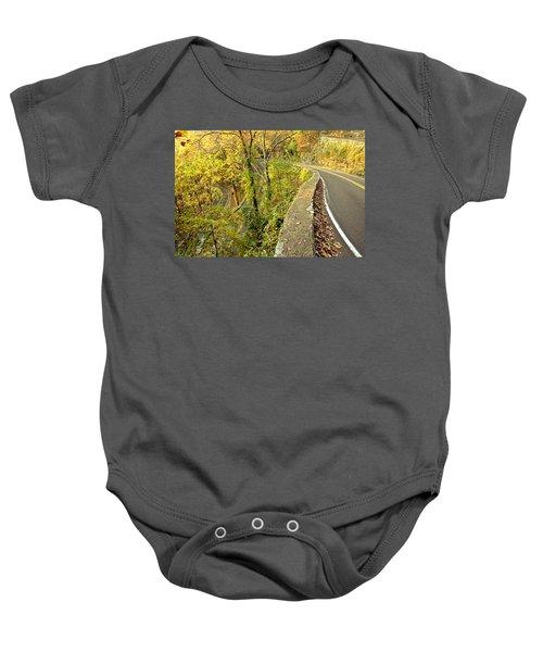 W Road In Autumn Baby Onesie