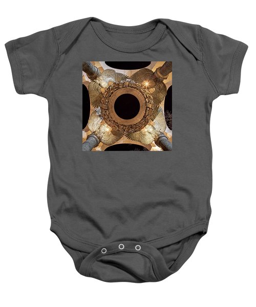 Ww II Memorial Victory Wreath Baby Onesie