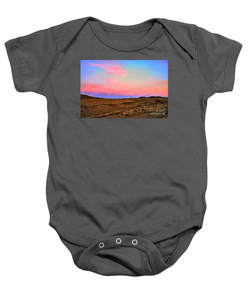 Wyoming Lights Baby Onesie