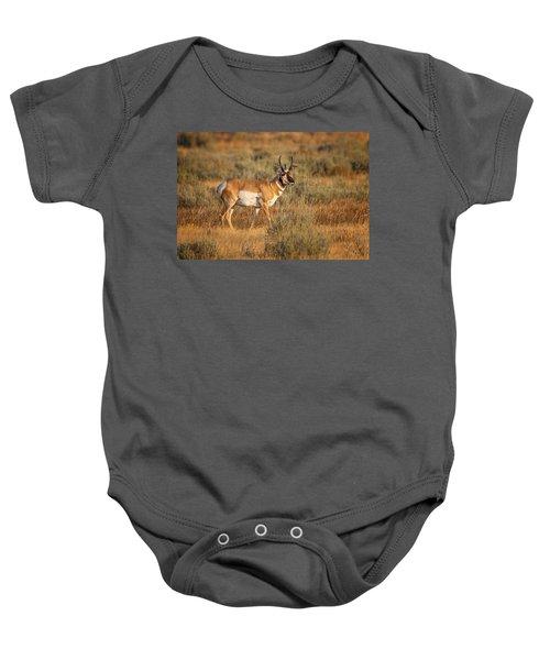 Wyoming Pronghorn Baby Onesie