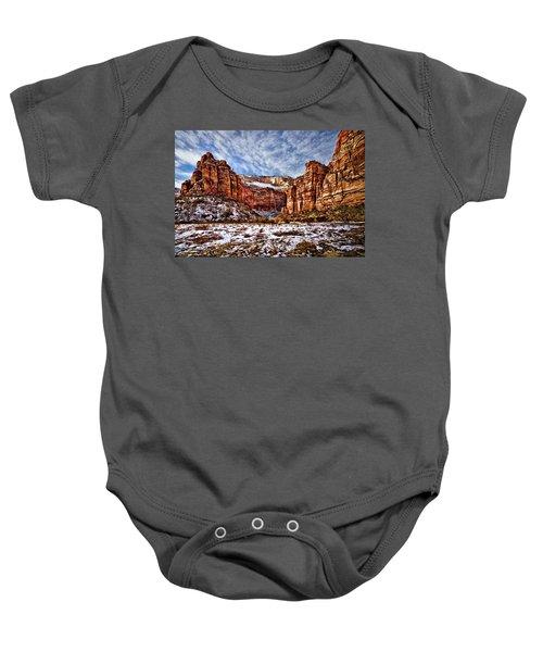 Zion Canyon In Utah Baby Onesie