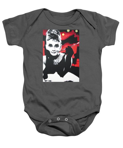 - Breakfast At Tiffannys -  Baby Onesie by Luis Ludzska