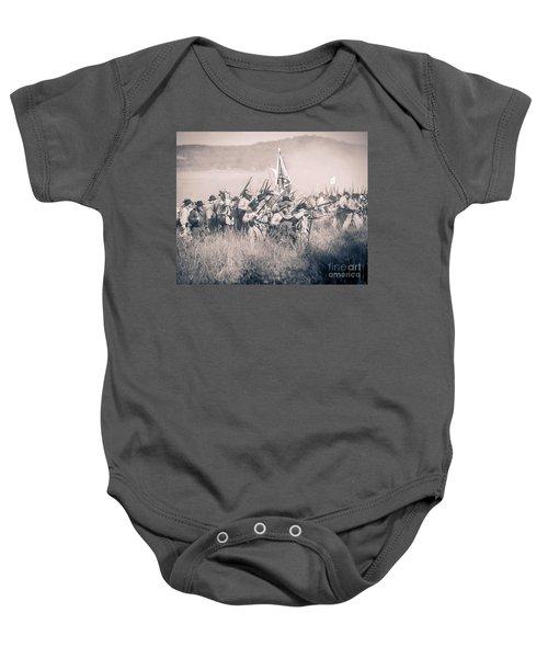 Gettysburg Confederate Infantry 9214s Baby Onesie