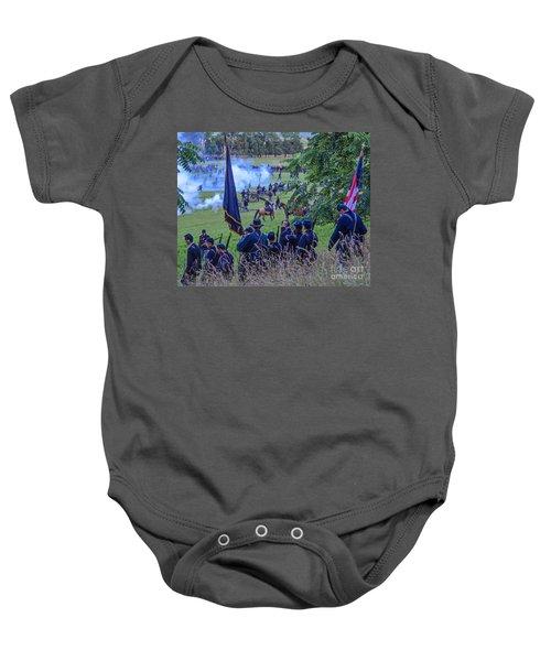 Gettysburg Union Artillery And Infantry 7459c Baby Onesie