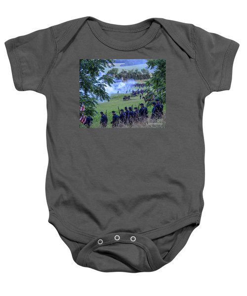 Gettysburg Union Artillery And Infantry 7465c Baby Onesie