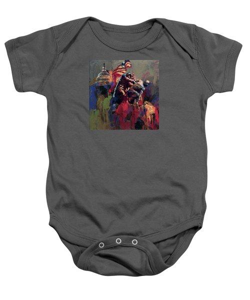 062 Jima Marine Memorial Washington Dc Baby Onesie