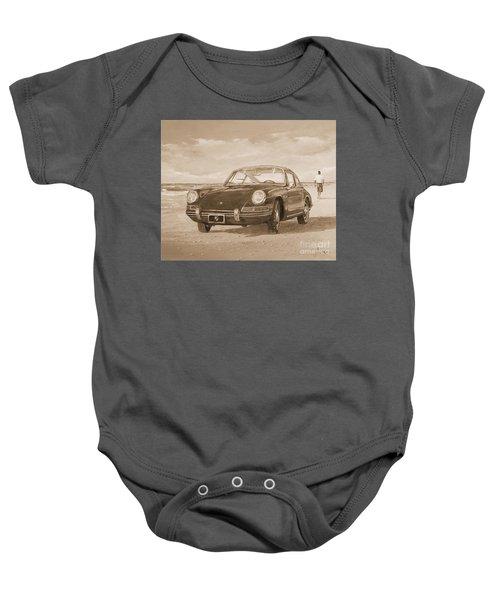 1967 Porsche 912 In Sepia Baby Onesie