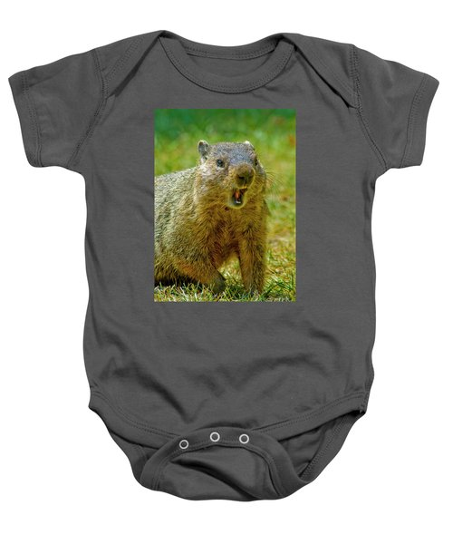 A Hungry Fellow  Baby Onesie by Paul W Faust - Impressions of Light