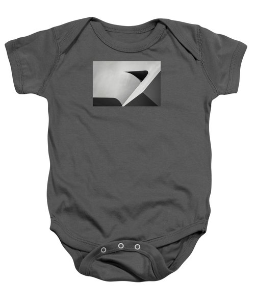 Abstract In Black And White Baby Onesie