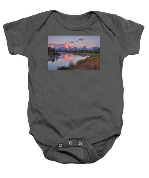 Alpenglow At Oxbow Bend Baby Onesie
