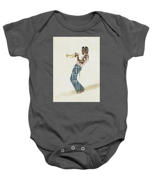 Miles Davis Typography Art Baby Onesie