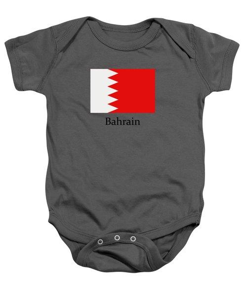 Bahrain Flag Baby Onesie