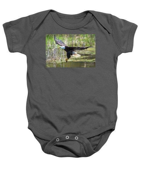 Bald Eagle-3175 Baby Onesie