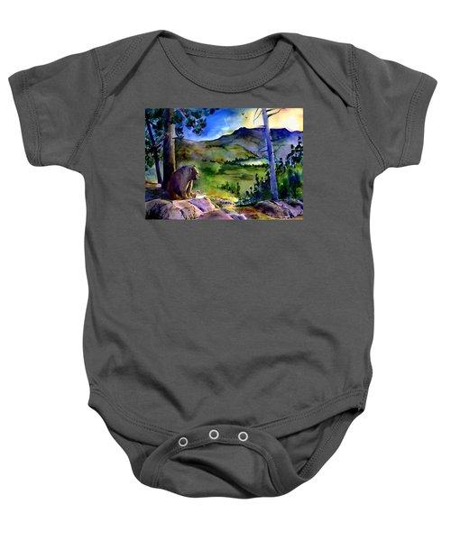 Bearly Light At Castle Peak Baby Onesie