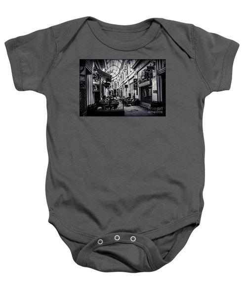Monochrome Bucharest  Macca - Vilacrosse Passage Baby Onesie
