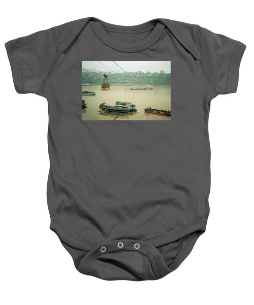 Cable Car Over Yangzi River In Chongqing China Baby Onesie