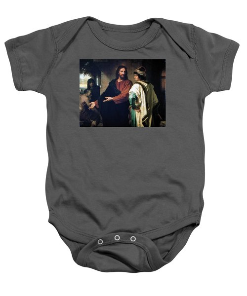 Christ And The Rich Young Ruler Baby Onesie
